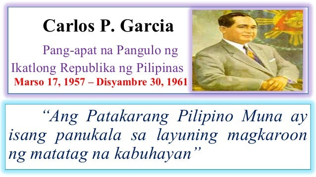 contribution of carlos p garcia