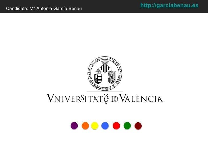 Candidata: Mª Antonia García Benau http:// garciabenau.es