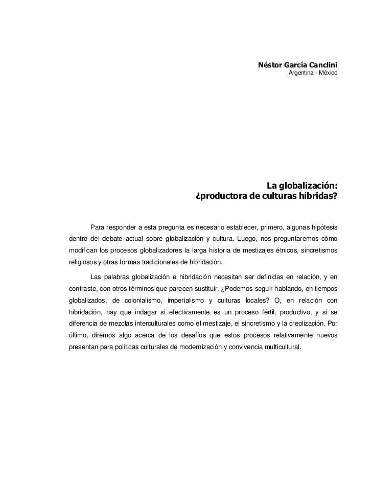 Néstor García Canclini                                                                             Argentina - México     ...