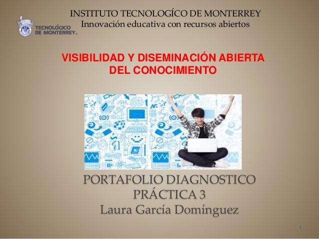 PORTAFOLIO DIAGNOSTICO PRÁCTICA 3 Laura García Domínguez VISIBILIDAD Y DISEMINACIÓN ABIERTA DEL CONOCIMIENTO 1 INSTITUTO T...