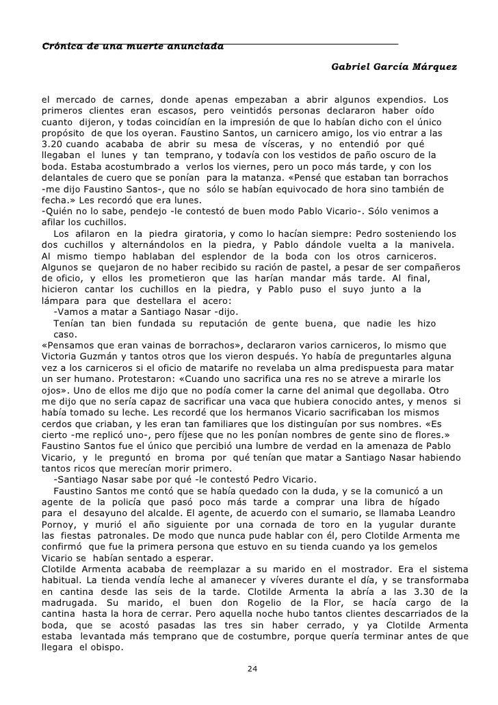 cronicas de una muerte anunciada pdf