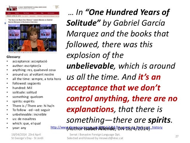 an analysis of in one hundred years of solitude by gabriel garca mrquez A book review: one hundred years of solitude by gabriel garcia marquez  i  never felt like i needed a direct explanation as to why any of it.