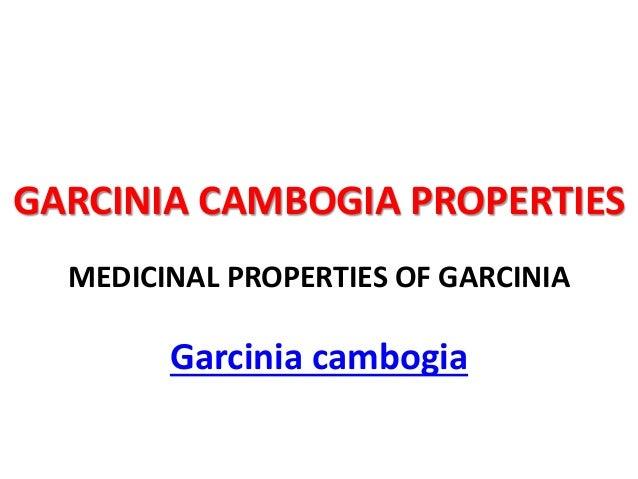GARCINIA CAMBOGIA PROPERTIES MEDICINAL PROPERTIES OF GARCINIA Garcinia cambogia