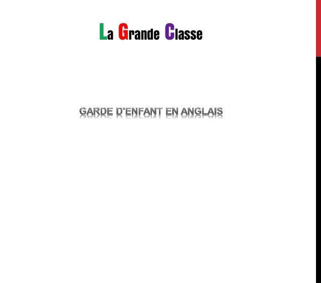 LA GRANDE CLASSE S'ENGAGE A REMBOURSER TOUTE FAMILLE DONT LES ENFANTS NE PROGRESSERAIENT PAS, SOUS PRESENTATION DU BULLETI...