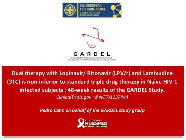 Dual therapy with Lopinavir/ Ritonavir (LPV/r) and Lamivudine (3TC) is non-inferior to standard triple drug therapy in Naï...