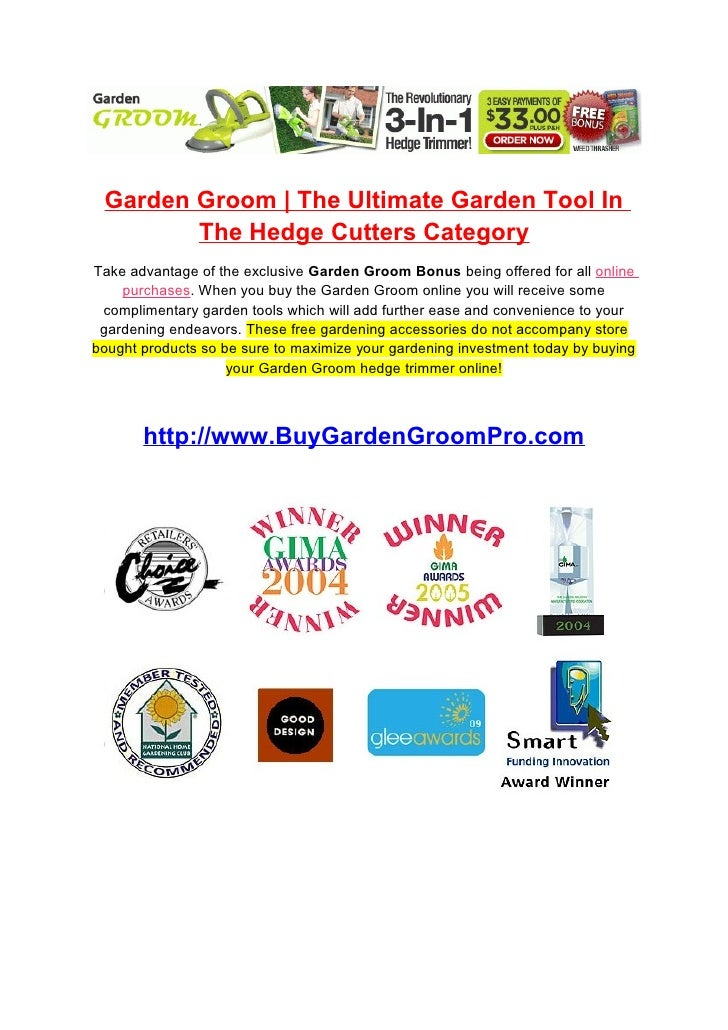 Garden Groom | The Ultimate Garden Tool In         The Hedge Cutters Category Take advantage of the exclusive Garden Groom...