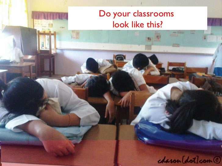 Do your classrooms  look like this?
