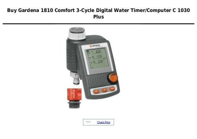 gardena 1810 comfort 3 cycle digital water timer computer c 1030 plus. Black Bedroom Furniture Sets. Home Design Ideas