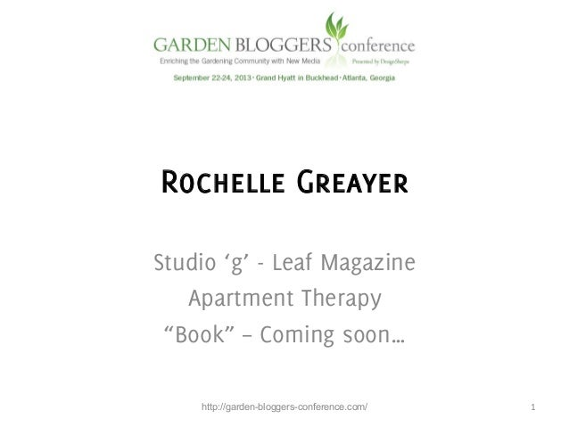 """Rochelle Greayer Studio 'g' - Leaf Magazine Apartment Therapy """"Book"""" – Coming soon…    http://garden-bloggers-conference..."""
