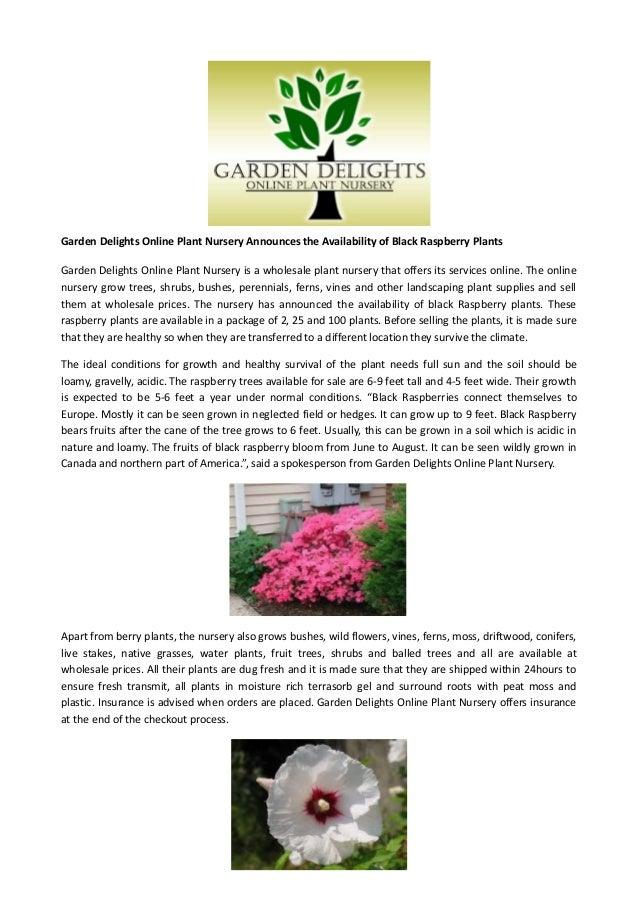 Garden Delights Online Plant Nursery Announces The Availability Of Bl