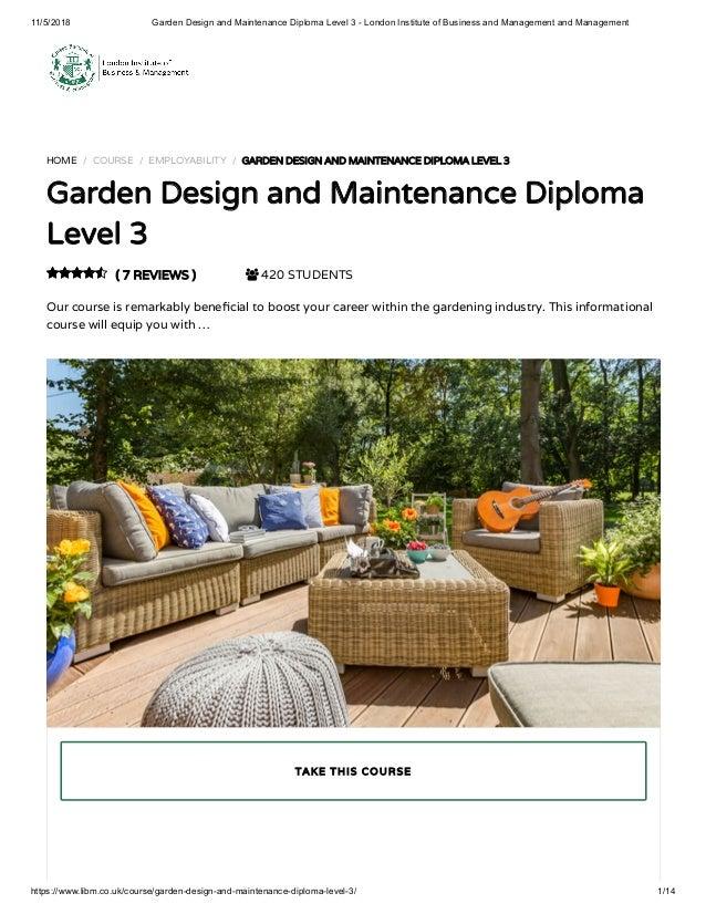 Garden Design Course Libm