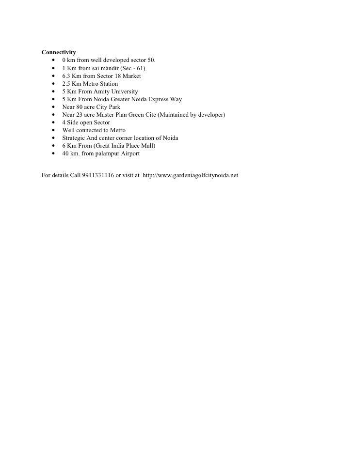 Gardenia Golf City Noida-9911331116 Slide 3