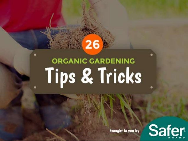 26 Organic Gardening Tips And Tricks Brought To You By Safer Brand.