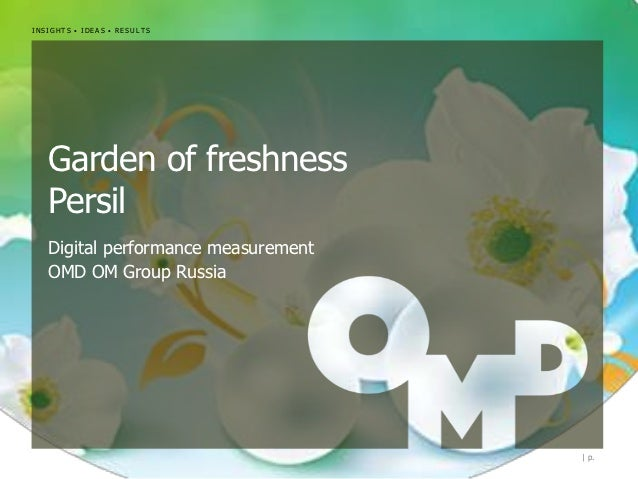 INSIGHTS • IDEAS • RESULTS   Garden of freshness   Persil   Digital performance measurement   OMD OM Group Russia         ...