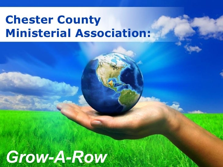 Free Powerpoint  Templates Chester County Ministerial Association:  Grow-A-Row