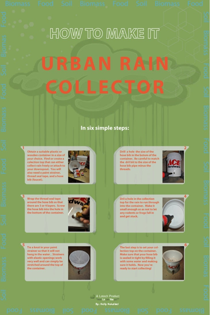 Urban Garden Rain Collector
