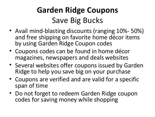Garden Ridge Coupons
