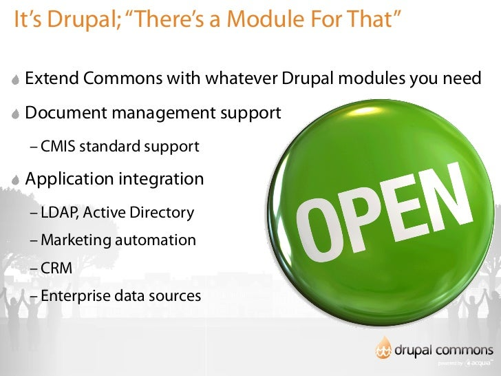 Accelerate Your Business with Drupal Gardens and Drupal Commons