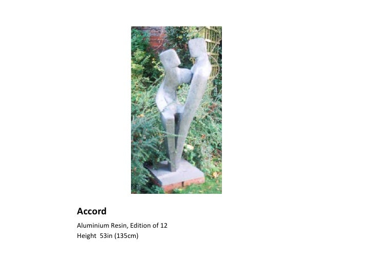 Accord<br />Aluminium Resin, Edition of 12<br />Height  53in (135cm)<br />