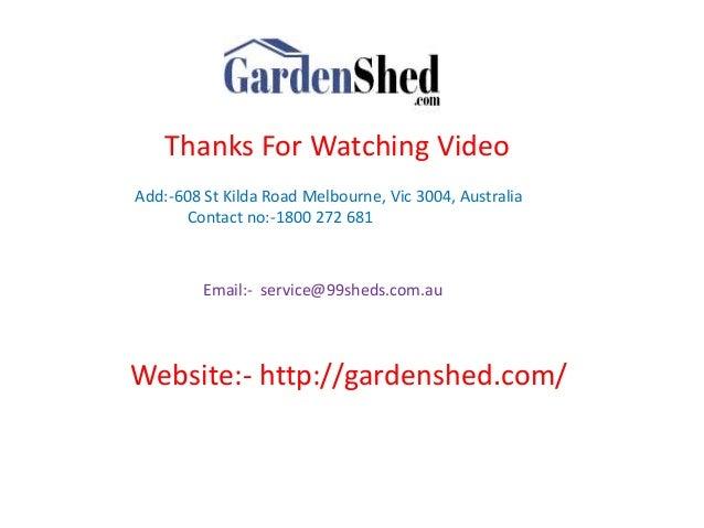 Garden Sheds Vic garden shed to brisbane, perth, sydney australia.
