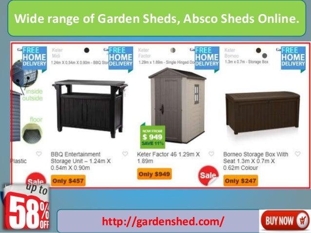 Wide Range Of Garden Sheds Absco Sheds Online