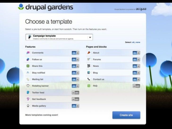 drupal gardens free templates