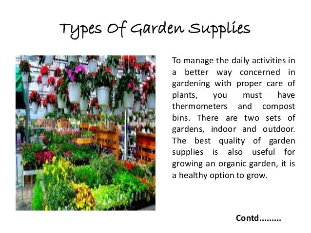 Importance Of Garden Supplies And Their Uses