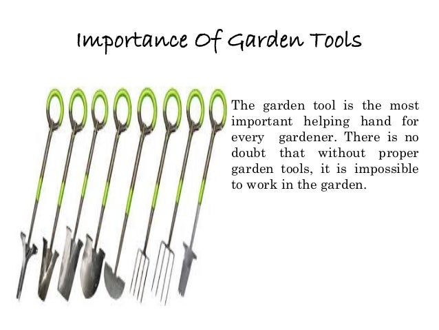 Different Purposes Of Garden Tools