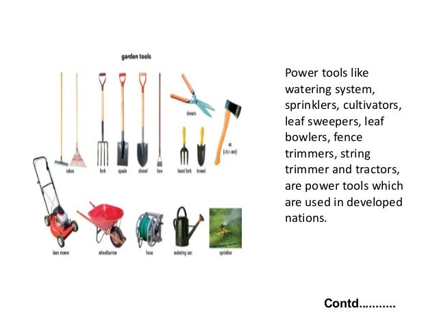 8. Power Tools ...