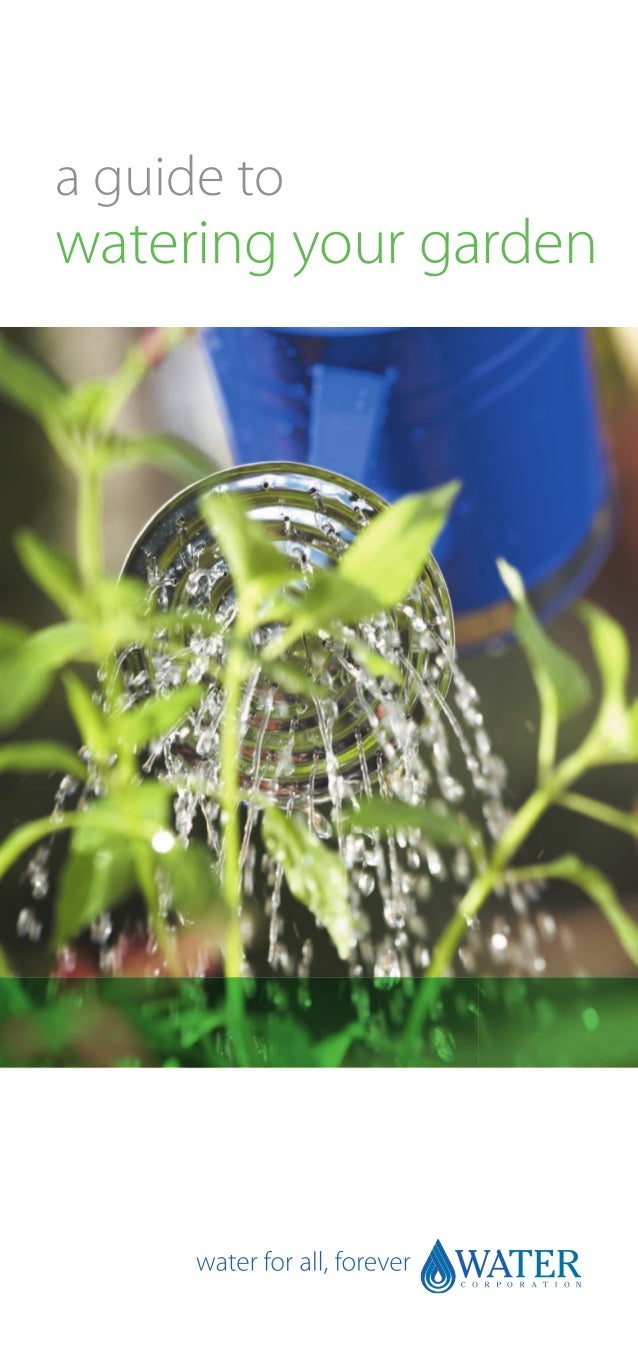 a guide towatering your garden
