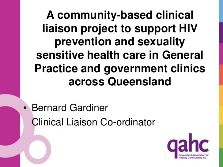 A community-based clinical liaison project to support HIV prevention and sexuality sensitive health care in General Practi...