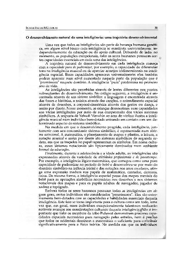 INTELIGÊNCIAS MÚLTIPLAS                                                               31O desenvolvimento natural de uma i...