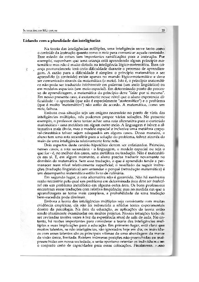 INTELIGÊNCIAS MÚLTIPLAS                                                              35Lidando com a pluralidade das intel...