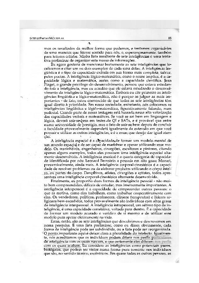 INTELIGÊNCIAS MÚLTIPLAS                                                                  15                               ...