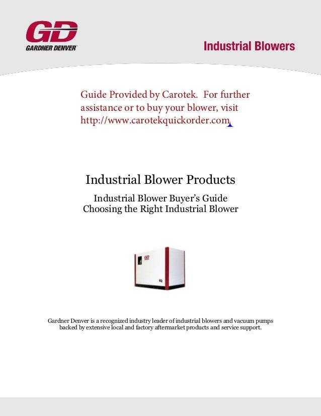 Gardner Denver Sutorbilt Service Manual