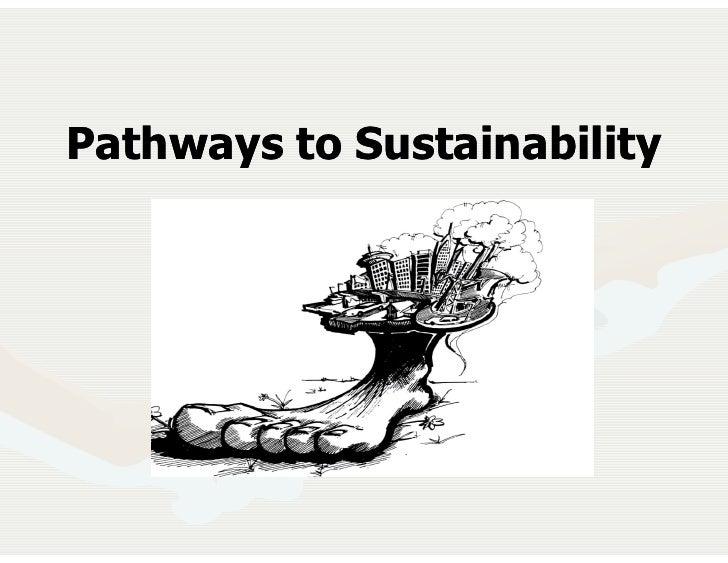 Pathways to Sustainability            January 2003