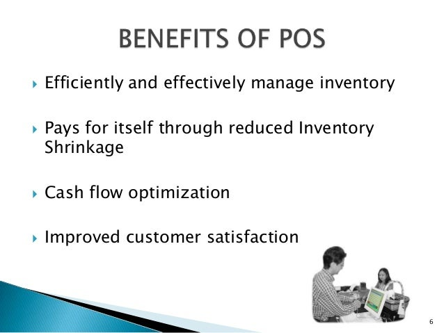    Efficiently and effectively manage inventory   Pays for itself through reduced Inventory    Shrinkage   Cash flow op...