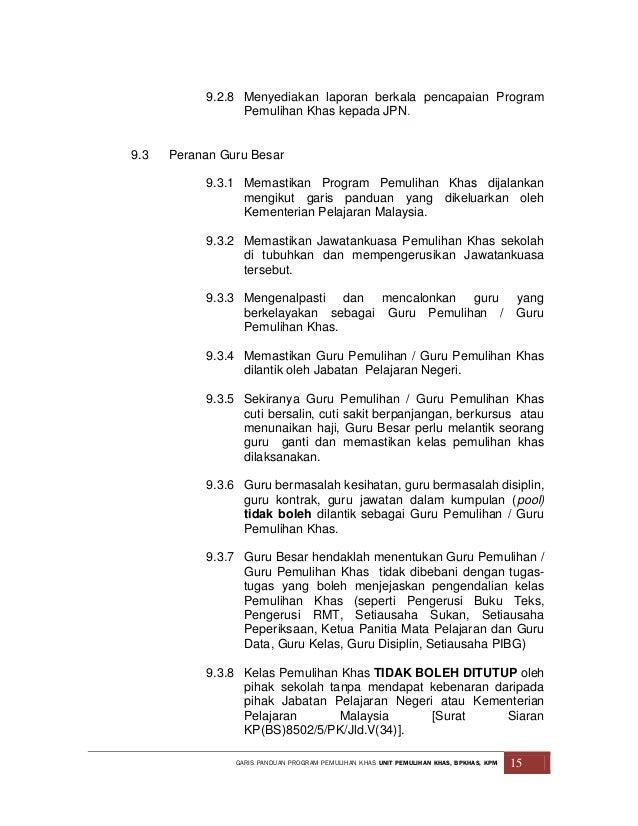 Garis Panduan Program Pemulihan Khas Terkini 25 2 13