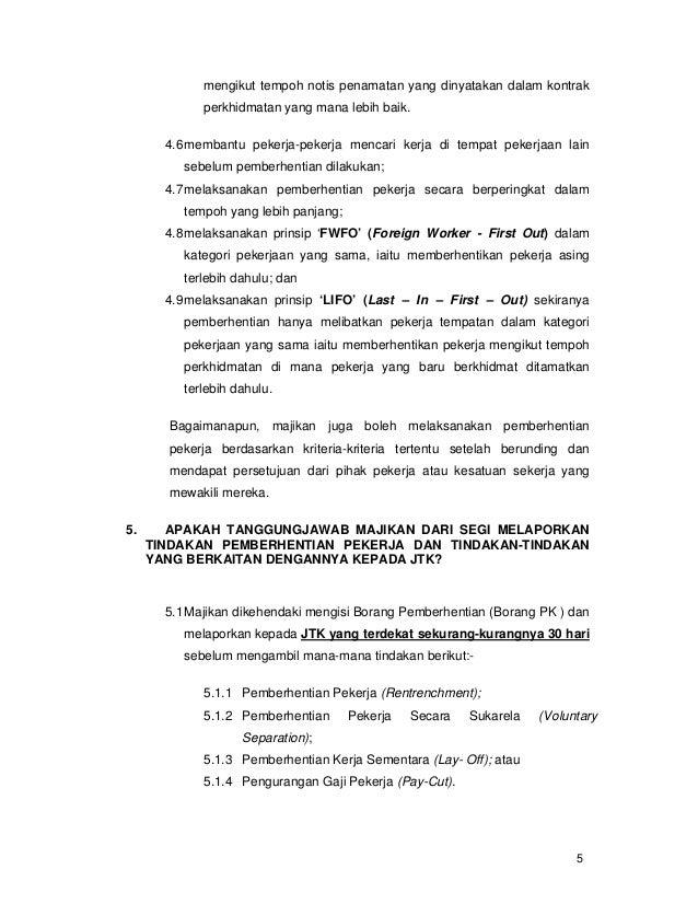 Contoh Surat Pemberhentian Kontrak Kerja Contoh Surat