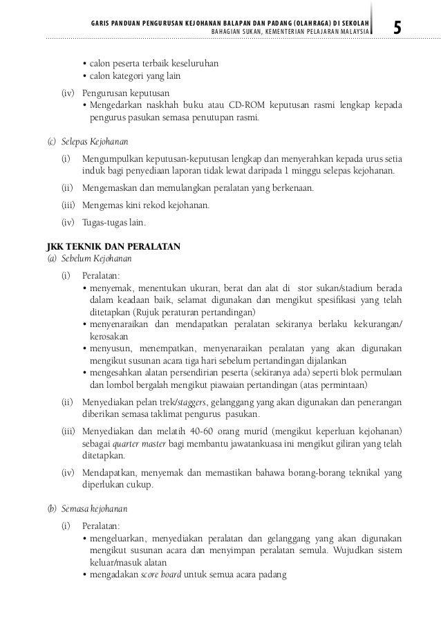 Surat Rasmi Kejohanan Olahraga - GRasmi