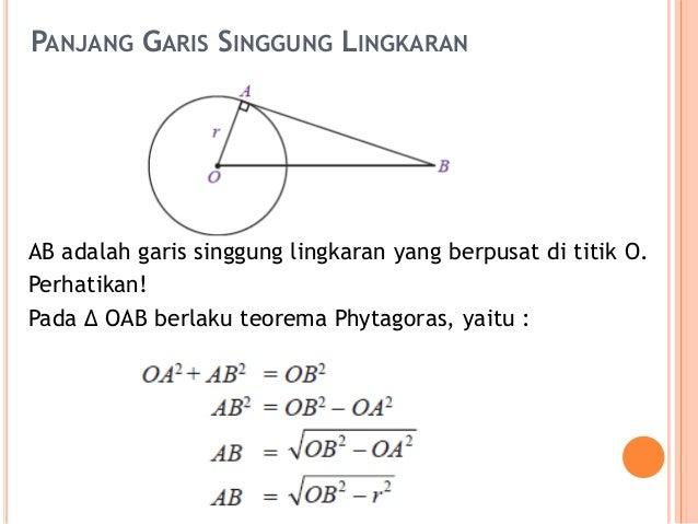 Garis singgung lingkaran aplot titik tersebut dinamakan titik singgung lingkaran 3 panjang garis ccuart Image collections