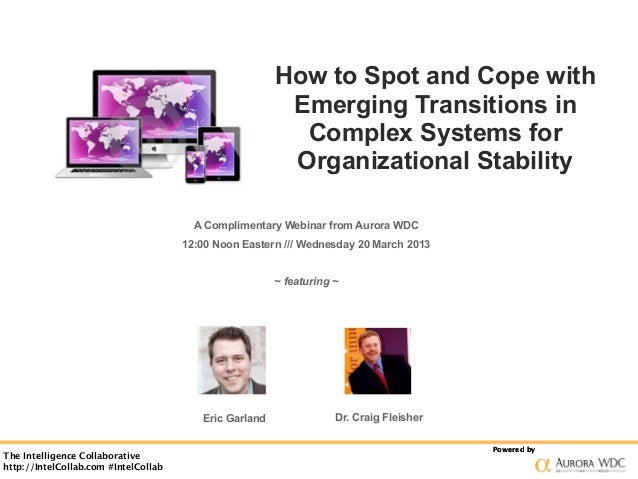 How to Spot and Cope with                                                         Emerging Transitions in                 ...
