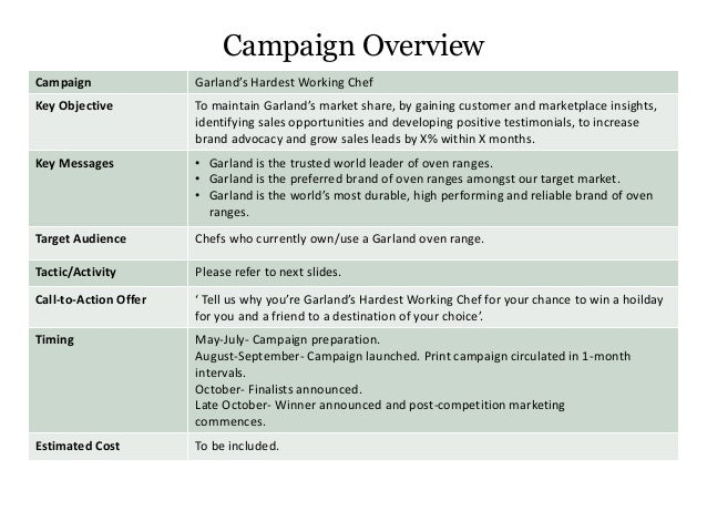 marketing campaign brief template garland marketing campaign brief