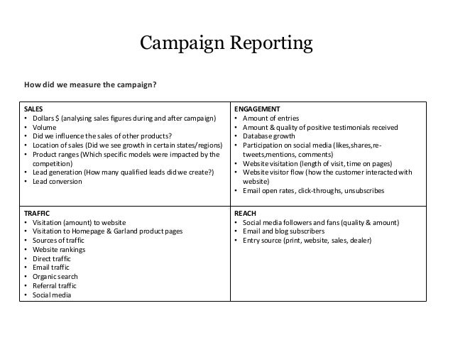 Garland Marketing Campaign Brief