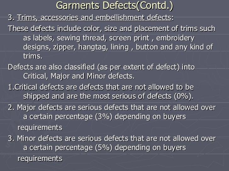 Garment defects Slide 2