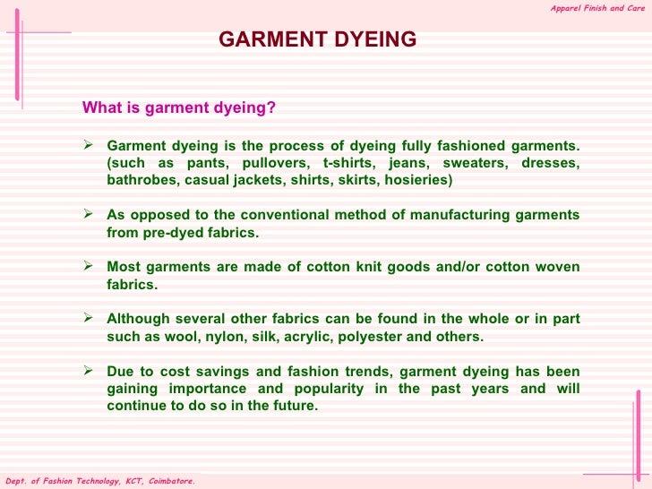 Garment Dyeing Techniques