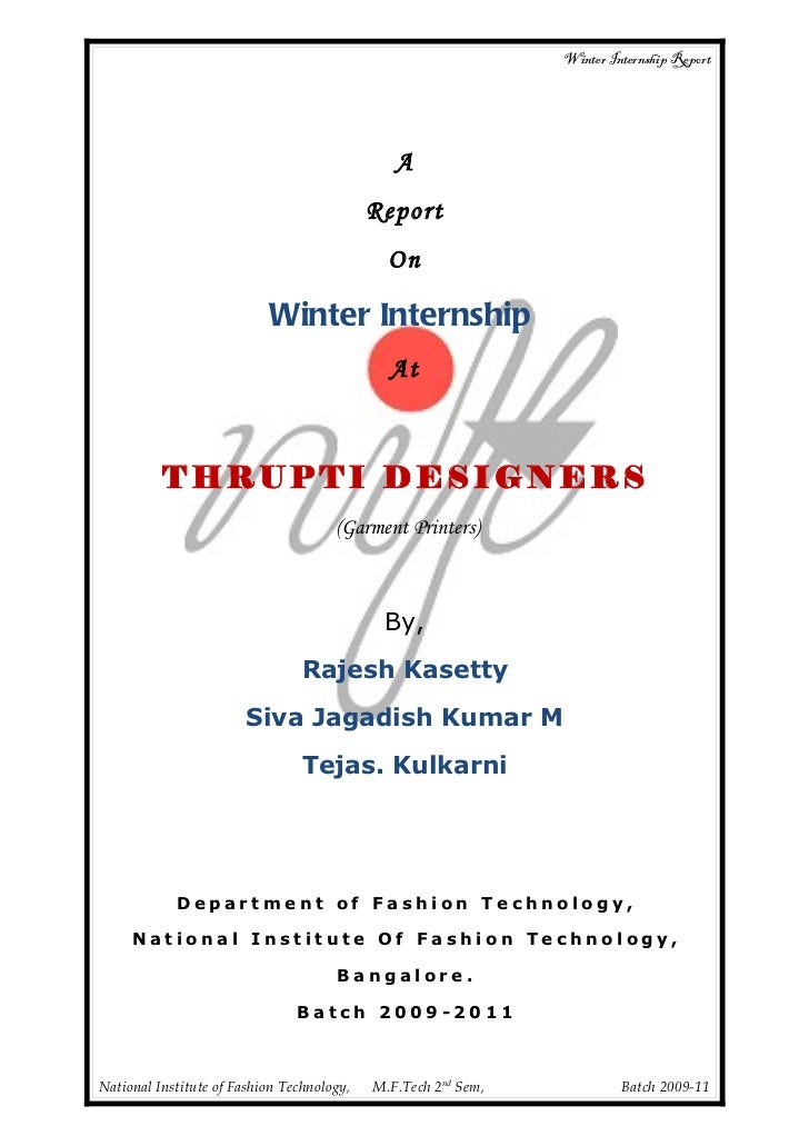 Garment printing internship