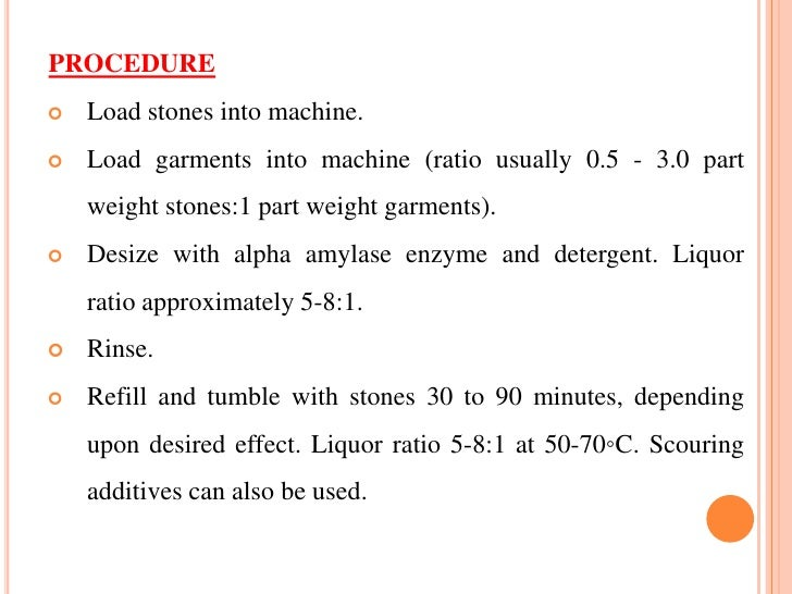 ENZYME WASH Cellulase   enzymes are natural proteins which are  used in denim garment processing to get stone  wash look ...