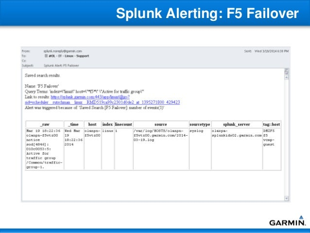 Splunk Implementation and Usage - Garmin