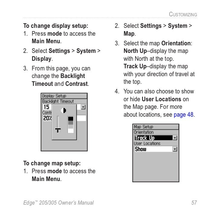 Garmin edge 305 manual